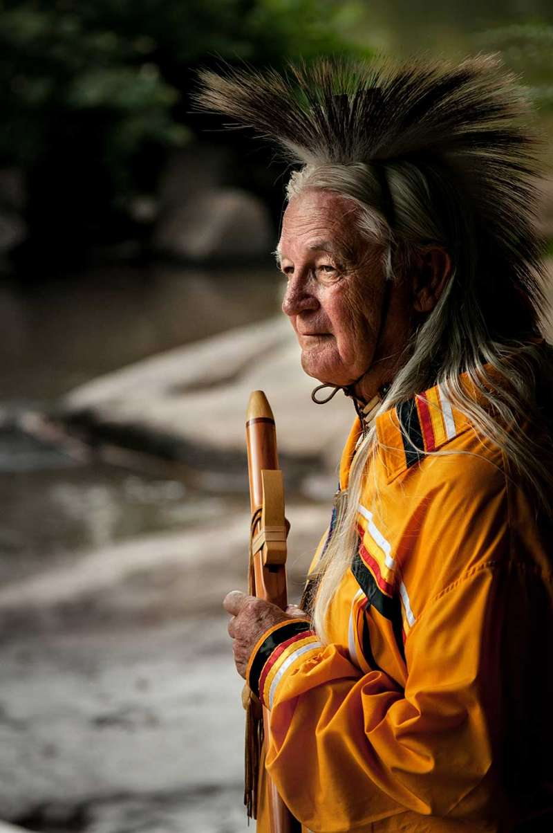 Travel and tourism photography featuring a true native american shaman.