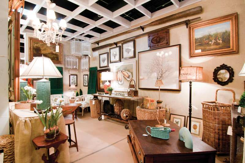 Home decor editorial photography showing a gorgeous consignment shop display.