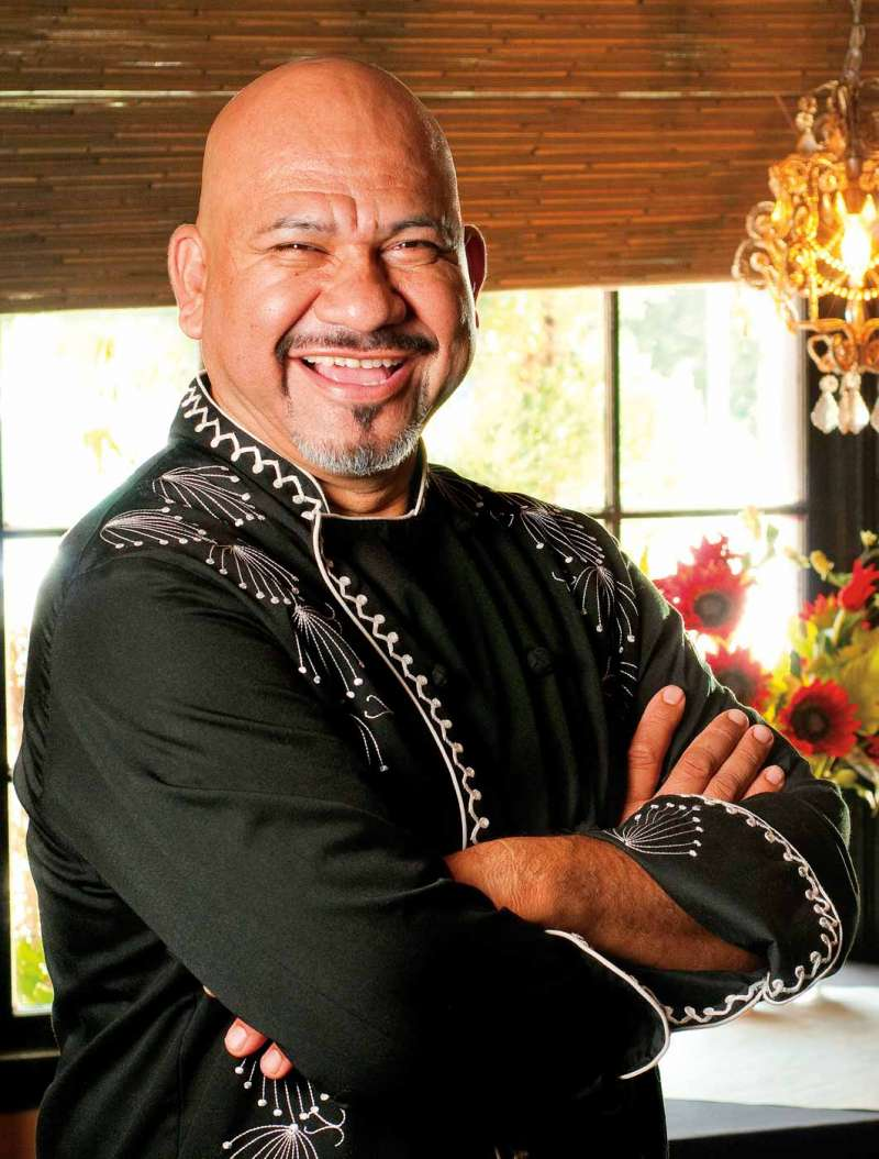 Portrait of Chef Jose at Girasoles restaurant.